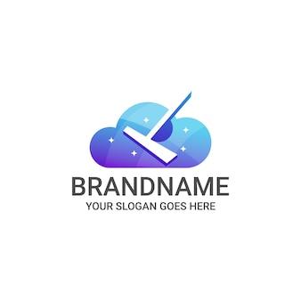 Modelo de logotipo on-line de limpeza e manutenção