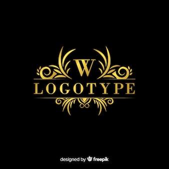Modelo de logotipo ornamental elegante