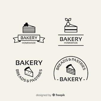 Modelo de logotipo padaria plana