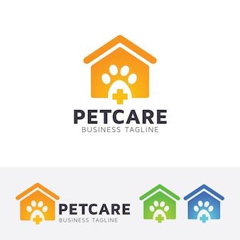 Modelo de logotipo para animais de estimação e animais domésticos
