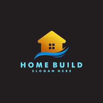 Modelo de logotipo para casa, casa