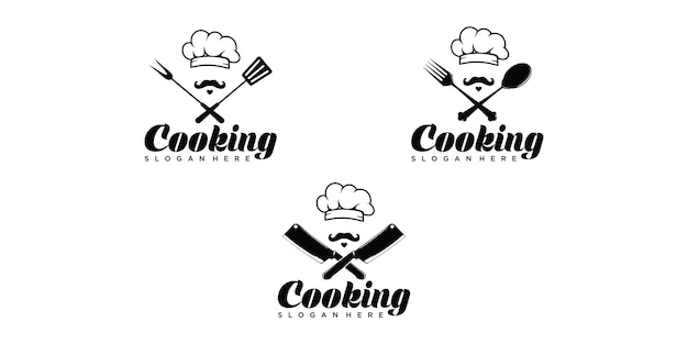 Modelo de logotipo para chef de cozinha
