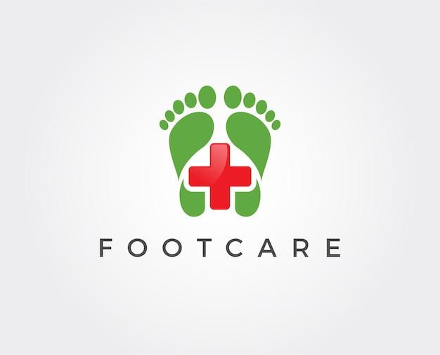 Modelo de logotipo para cuidados com os pés Vetor Premium
