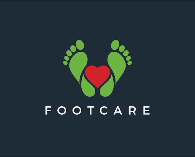 Modelo de logotipo para cuidados com os pés