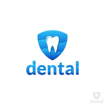Modelo de logotipo para cuidados e proteção dentária