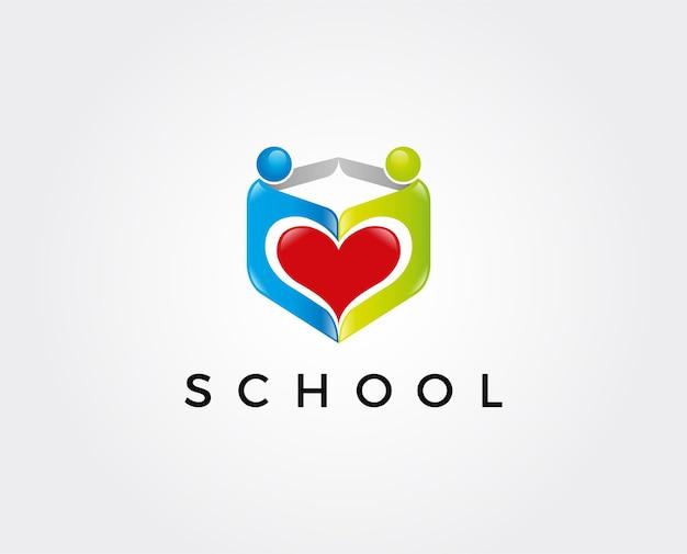 Modelo de logotipo para educação infantil