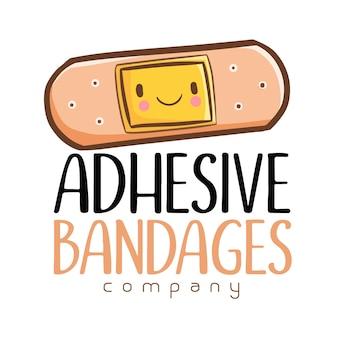 Modelo de logotipo para empresa de bandagem adesiva