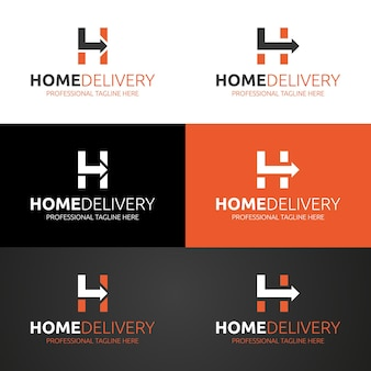 Modelo de logotipo para entrega em domicílio