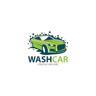 Modelo de logotipo para lavagem de carros