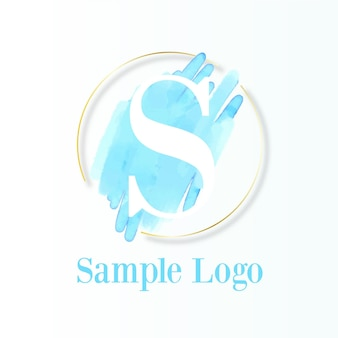 Modelo de logotipo pintado à mão