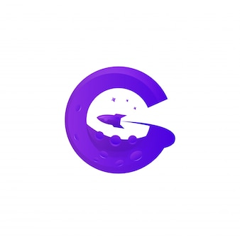 Modelo de logotipo premium incrível planeta colorido g
