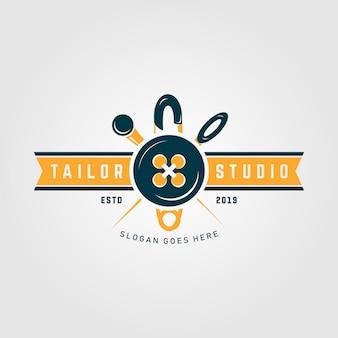 Modelo de logotipo premium studio de alfaiate