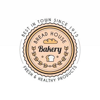 Modelo de logotipo retro backery