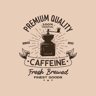 Modelo de logotipo retrô de cafeteria
