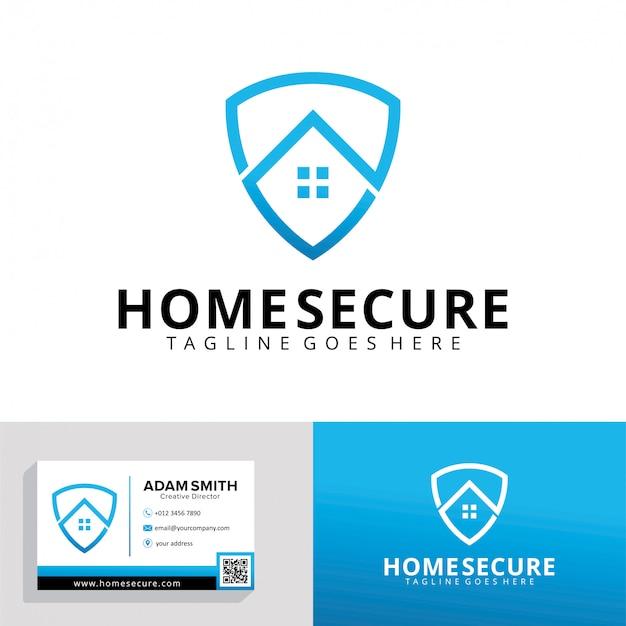 Modelo de logotipo seguro para casa