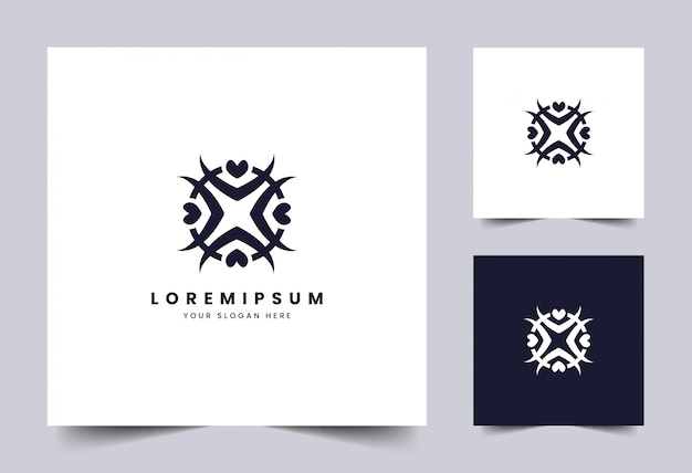 Modelo de logotipo simples abstrato