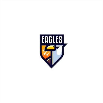Modelo de logotipo simples da eagle