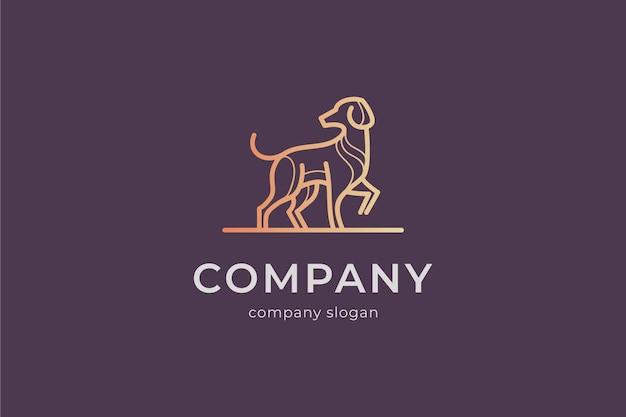 Modelo de logotipo simples e moderno de cachorro