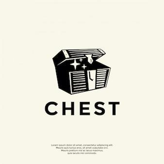 Modelo de logotipo simples no peito
