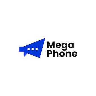 Modelo de logotipo social para megafone, conversa, bate-papo