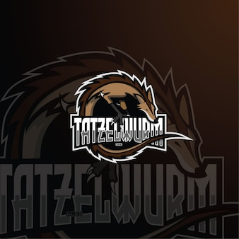 Modelo de logotipo tatzelwurm esport