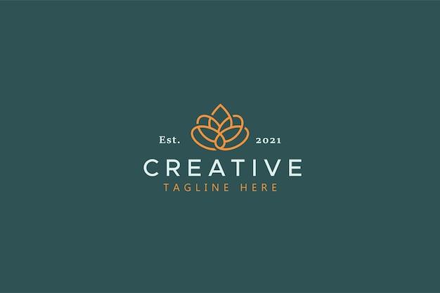Modelo de logotipo vetorial de identidade de marca de beleza e moda