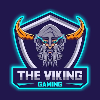 Modelo de logotipo viking esport