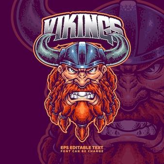 Modelo de logotipo viking