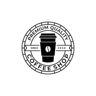 Modelo de logotipo vintage de café