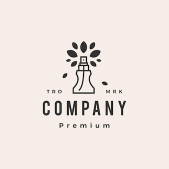 Modelo de logotipo vintage de folha de árvore de perfume natural moderno