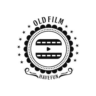 Modelo de logotipo vintage de vidio antigo