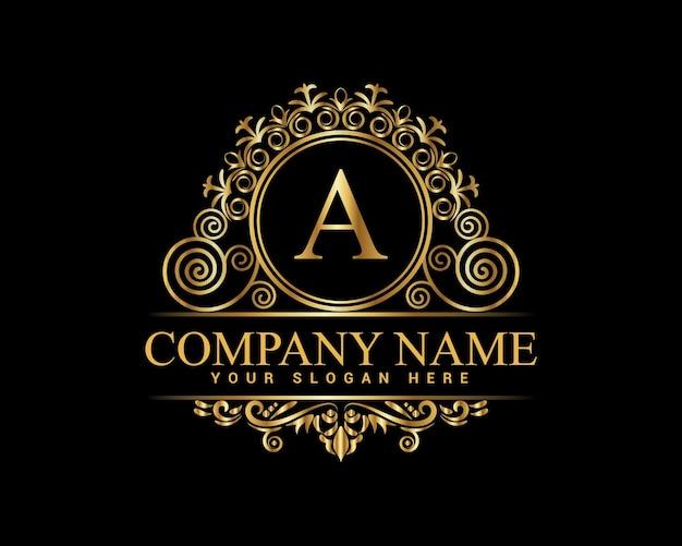 Modelo de logotipo vintage e luxo premium vector, royalty