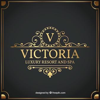 Modelo de logotipo vintage e luxo