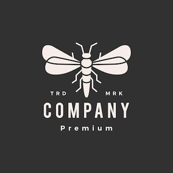 Modelo de logotipo vintage firefly hipster