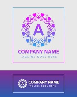 Modelo de logotipo vintage letra colorida