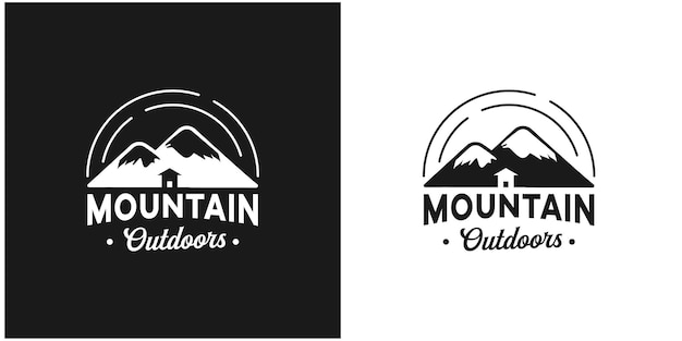 Modelo de logotipo vintage montanha ao ar livre inspiração vetor premium 1