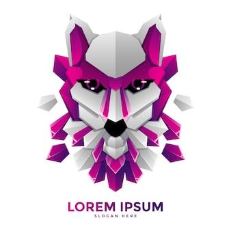 Modelo de logotipo wolf