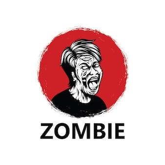 Modelo de logotipo zumbi
