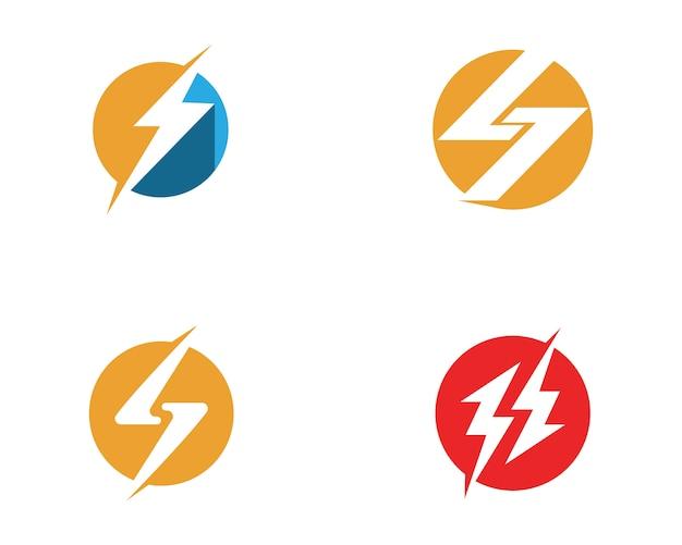 Modelo de logotipos de energia
