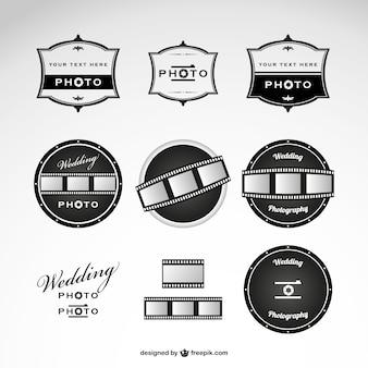 Modelo de logotipos de fotografia de casamento