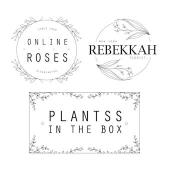 Modelo de logotipos femininos de flor