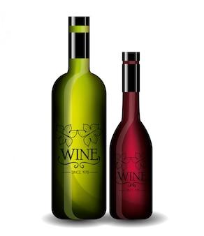 Modelo de loja de vinhos isolado ícone do design