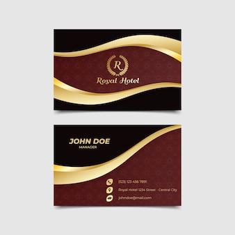 Modelo de luxo de cartão de visita