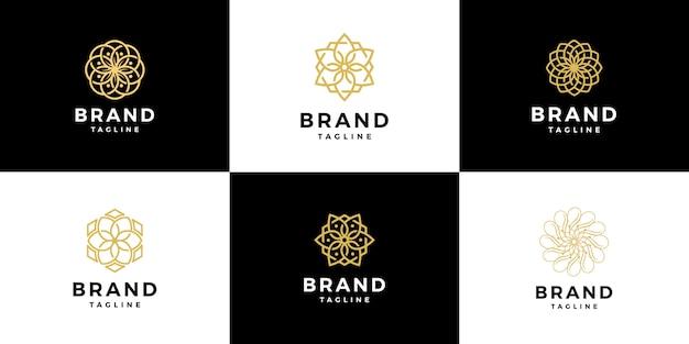 Modelo de luxo logotipo spa de beleza