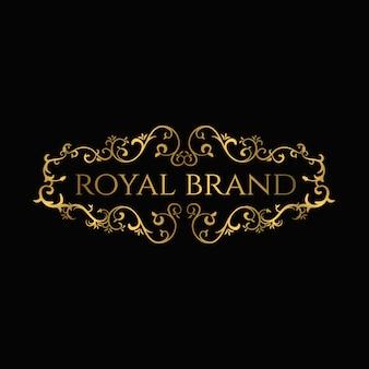 Modelo de luxo premium de logotipo