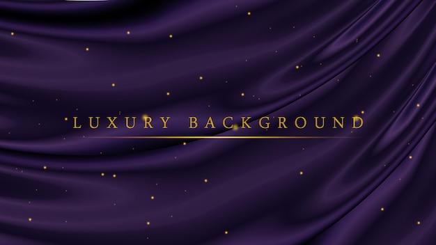 Modelo de luxo roxo escuro com fundo dourado brilhante para premiação ou cerimônia