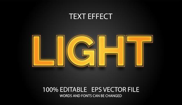 Modelo de luz de efeito de texto editável
