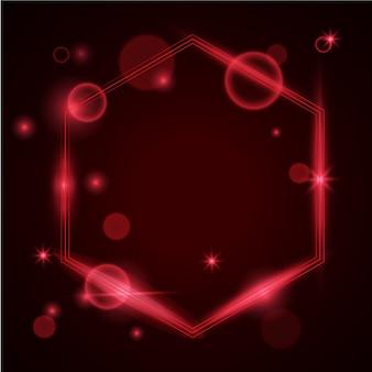 Modelo de luz de fundo vermelho