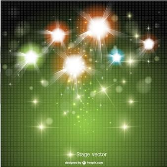 Modelo de luzes brilhantes vetor