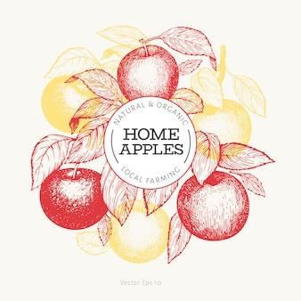 Modelo de maçã branche